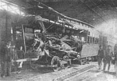 Accidente choque de tranvías 1910-07-16