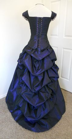 Victorian Gothic Bustled Prom dress ball gown by britishsteampunk