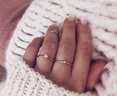 Not So Tiny Diamond Ring in 18K Gold // Mumbai Stockholm
