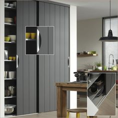 Schuifdeurkast op maat kopen? Aanbieding inbouw schuifkast Storemax en Raffito. Garage Laundry Rooms, Laundry Room Storage, Kitchen Layout, New Kitchen, Sliding Wardrobe Doors, Bedroom Closet Design, Wardrobe Storage, Industrial Bedroom, Room Interior