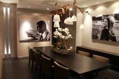 Eetkamer/lamp/bloemenschaal