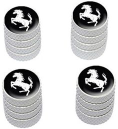 "(4 Count) Cool and Custom ""Diamond Etching Country Horse Top with Easy Grip Texture"" Tire Wheel Rim Air Valve Stem Dust Cap Seal Made of Genuine Anodized Aluminum Metal {Vibrant Nissan White and Black Colors - Hard Metal Internal Threads for Easy Application - Rust Proof - Fits For Most Cars, Trucks, SUV, RV, ATV, UTV, Motorcycle, Bicycles} mySimple Products http://www.amazon.com/dp/B00YW5SZ5Q/ref=cm_sw_r_pi_dp_2bCEwb04RGJEY"