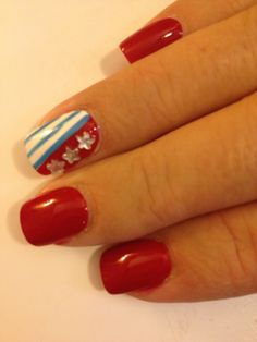 Bummed it's blurry but I did this is 2012 and will again this July - LOVE! Nails by Deb @Debbie Reyerse