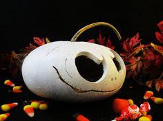 Halloween Gourd  Spooky Casper Pumpki Trick or by KaoriKreations, $25.00
