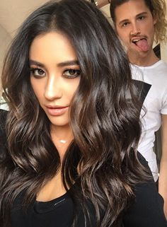 Shay looks amazing in these curls and makeup!   Pretty Little Liars