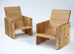 Pair of Modernist Pine Armchairs by Uno Liljeqvist | Rose Uniacke
