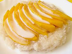 My all time favorite,,,mango and sticky rice dessert