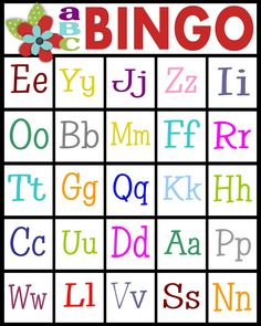 For teaching letter recognition or letter sounds abc bingo for sassy sanctuary abcs bingo free printable spiritdancerdesigns Image collections