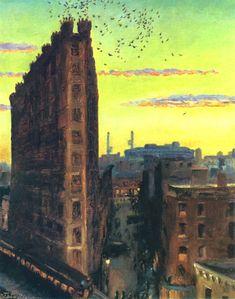Cornelia Street in John Sloan painting from 1920.
