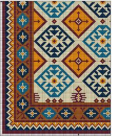 Cantinho do Artesanato: Gráficos Grátis de Tapete Arraiolos Cross Stitching, Cross Stitch Embroidery, Embroidery Patterns, Cross Stitch Patterns, Cross Stitch Cushion, Tapestry Crochet Patterns, Latch Hook Rugs, Cross Stitch Flowers, Loom Beading