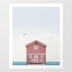Beach cottage Art Print by Gaiadesign. Worldwide shipping available at Society6.com. Just one of millions of high quality products available.