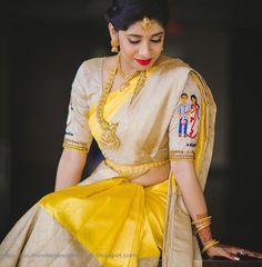 Designer Blouse Designs for Sarees - Kurti Blouse Saree Blouse Neck Designs, Fancy Blouse Designs, Kanchipuram Saree, Kanjivaram Sarees, Silk Sarees, Organza Saree, Sumo, Yellow Saree, Indian Bridal Fashion