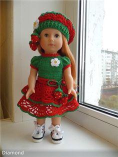 """Наряд """"Клубничка"""" для кукол Gotz Just like me / Одежда для кукол / Шопик. Продать купить куклу / Бэйбики. Куклы фото. Одежда для кукол"""