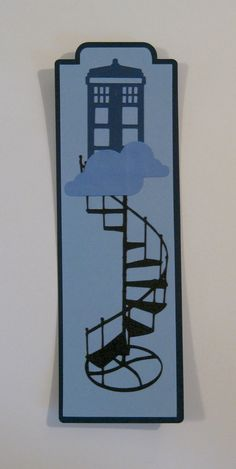 Tardis Staircase Bookmark Doctor Who Book by SpareRoomStationery