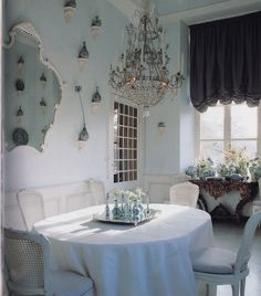 Axel Vervoordt's fabulous dining room in his chateau outside of Antwerp, Belgium.