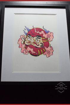Daruma, Tattoo, Tattoo Art, Tattoo Artwork, Tattoo Print, Tattoo Flash, Flash Art, Tattoo Drawing, Original, Japanese, Art, Print by ForgedStudios on Etsy