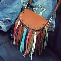 SHARE & Get it FREE | Bohemian Women's Crossbody Bag With Colorful Fringe…