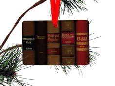 Jane Austen Books Christmas Ornament