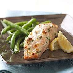 Salmon Dinner, Fish Dinner, Baked Salmon Recipes, Seafood Recipes, Shellfish Recipes, Dinner Recipes, Cooking Recipes, Healthy Recipes, Baked Lobster Tails