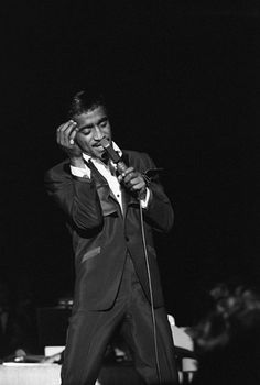 Sammy Davis Jr. performing at the Sands Hotel in Las Vegas