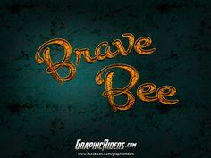Fantasy style – Brave Bee #Photoshop #Layers #Effects #Text #Effects #Design
