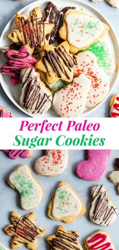 The best Paleo Sugar Cookies I've tried are finally here!   A sneak-peak from my book Paleo Baking at Home, these gluten free and paleo cutout sugar cookies are crisp and slightly chewy with a buttery flavor and paleo friendly icing. #paleo #glutenfree #paleobaking #glutenfreebaking #cleaneating #almondflour