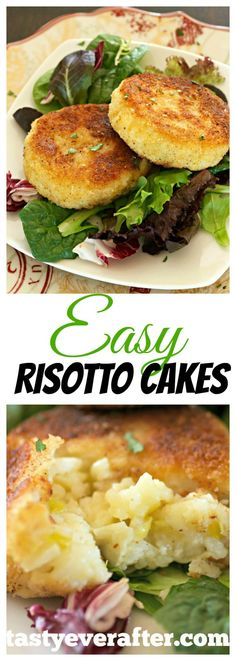 One of my favorite ways to use up leftover risotto. So QUICK and easy! Perfect as dinner side, light lunch, or brunch.