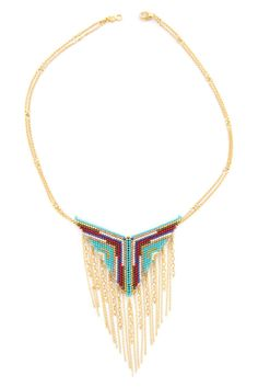 Chan Luu - Turquoise Mix Chain Tassel Necklace, $345.00 (http://www.chanluu.com/turquoise-mix-chain-tassel-necklace/)