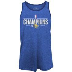 Golden State Warriors Majestic Threads 2017 NBA Finals Champions Tri-blend Tank - Royal