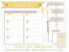 Printable 2015 Week on 2 Pages  Planner Insert door KristineCheryl