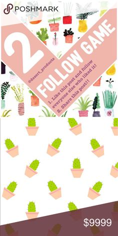 🌵2nd FOLLOW GAME!!🌵 🌵🌵🌵Yay!! 2nd FOLLOW GAME!! 🌵🌵🌵  Ok, you know the rules... but incase you need a refresher...😉 1. LIKE this post! 2. Follow everyone else who has liked this post!  3. Share this post and get a lot of new followers!!   This is such a fun way to get more followers, be sure to follow everyone else who likes this post! Loving all the Posh love!! 💛  🎉🎉🎉Happy Poshing!!!! 🎉🎉🎉 Makeup