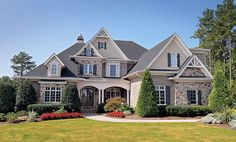 House Layout Plans, Craftsman House Plans, Country House Plans, House Layouts, Brick House Plans, Luxury House Plans, Dream House Plans, Luxury Houses, Facade Design