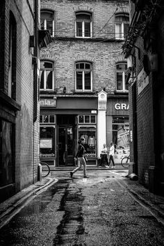 Taken from Andrew's Lane, looking towards Exchequer Street. Photograph after the rain, Dublin, Ireland by Gabor Nagy on Dublin Ireland, Ireland Travel, Pub Decor, Dublin City, Emerald Isle, Walking Tour, Amazing Photography, Places To See, Beautiful Places