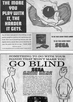 Sega tratando de convencer que sus videojuegos son mejores que la pandorga...