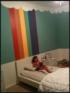 3 words.... | nooshloves Rainbow Room Kids, Rainbow Bedroom, Rainbow Wall, Kids Room Paint, Kids Rooms, Princess Room, Little Girl Rooms, New Room, Girls Bedroom