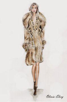 silhueta de mulheres com casaco de pele - Pesquisa Google