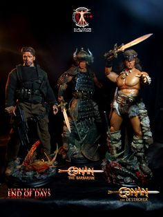 Calvin's Custom One Sixth scale End of Days Jericho Cane and Conan the Barbarian figures