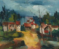Searching For Moonlight : Photo Maurice De Vlaminck, Beauty In Art, Impressionist Artists, Fauvism, Modern Artists, Global Art, Henri Matisse, City Art, Landscape Paintings