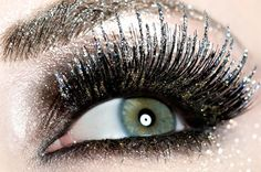 beautiful glitter lashes!