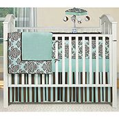 Liking this crib set - love the color