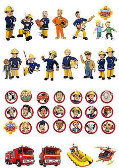 38 stand up fireman sam & #penny character edible #wafer #paper cupcake toppers, View more on the LINK: http://www.zeppy.io/product/gb/2/291521206093/