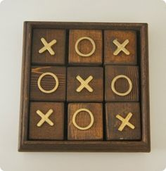 Gift Ideas for Dad #10: Wooden Tic Tac Toe Game