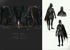 Bloodborne Concept Art - Cainhurst Armor & Queen's Chamber Concept Art