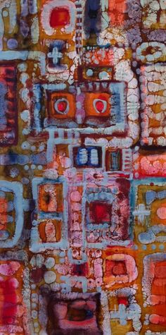 Encaustic art by Kat Fitzpatrick