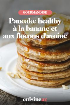 This healthy pancake recipe is perfect for a Sunday morning. It is original because it is based on bananas and oatmeal. Oatmeal Pancakes, Pancakes Easy, Pancake Healthy, Mousse, Clean Eating Snacks, Food Porn, Brunch, Easy Meals, Food And Drink