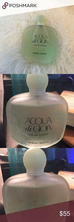 Acqua di gioa perfume Acqua di gioa eau de toilette perfume from Giorgio Armani. Size 3.4 oz 100ml. Almost full to the top only used a little bit. Can always do less off posh. Giorgio Armani Other