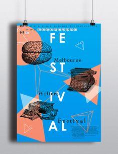 Poster & Postcard. Melbourne Writers Festival on Behance
