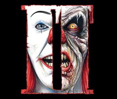 Pennywise is terrifying on this It artwork