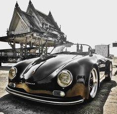 Porsche 356 Spyder Source by Porsche Panamera, Porsche 356 Speedster, Vintage Porsche, Vintage Cars, Audi, Porsche Cayenne, Bmw Classic Cars, Roadster, Porsche Cars