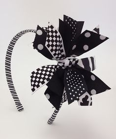 Another great find on #zulily! Black & White Spike Headband #zulilyfinds